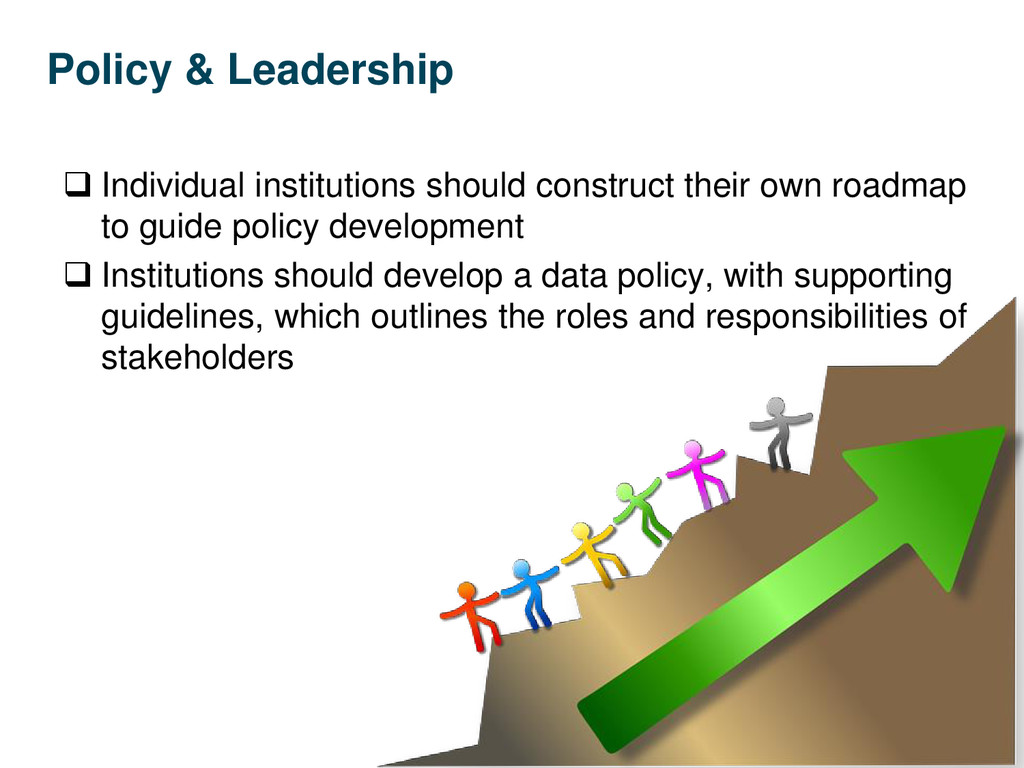 Policy & Leadership  Individual institutions s...