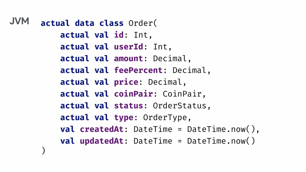 actual data class Order( actual val id: Int, ac...