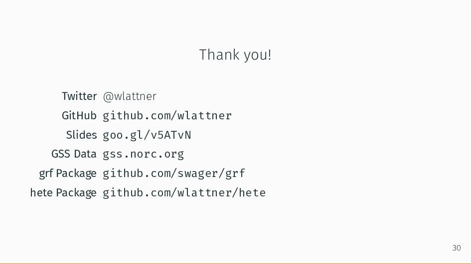 Thank you! Twitter @wlattner GitHub github.com/...