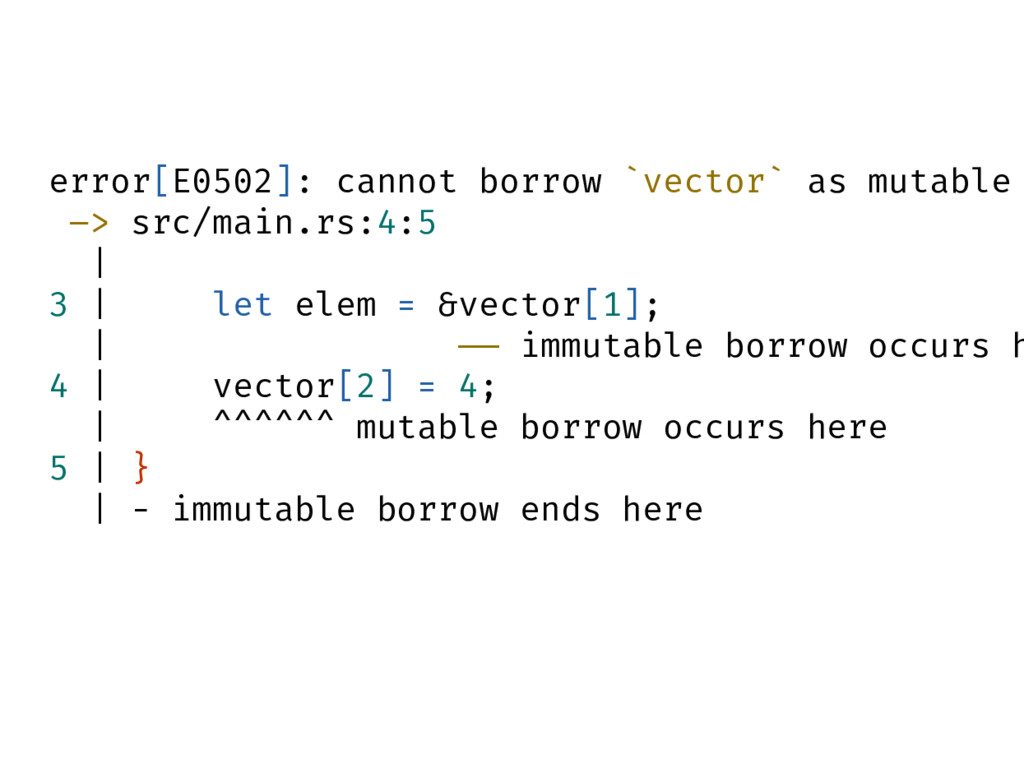 error[E0502]: cannot borrow `vector` as mutable...
