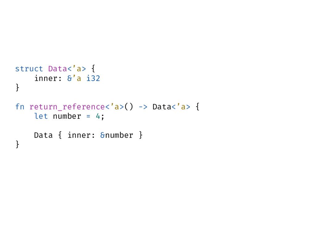 struct Data<'a> { inner: &'a i32 } fn return_re...