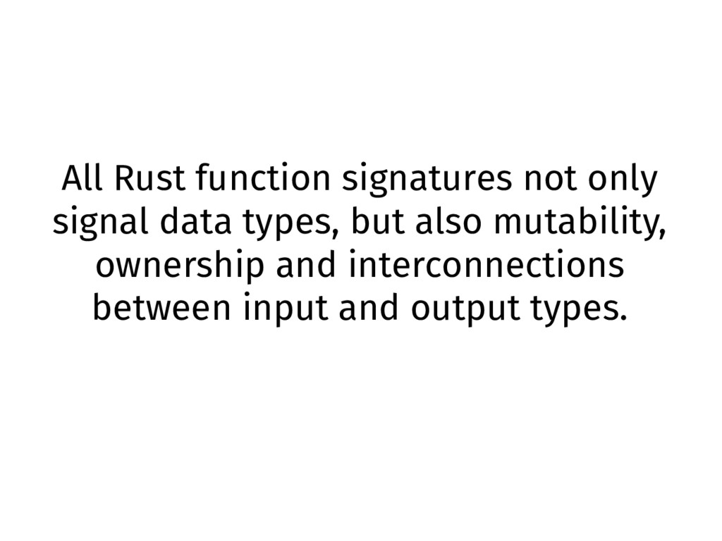 All Rust function signatures not only signal da...