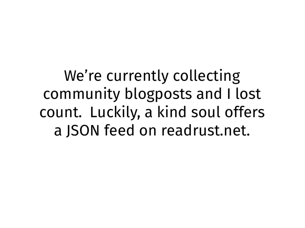 We're currently collecting community blogposts ...