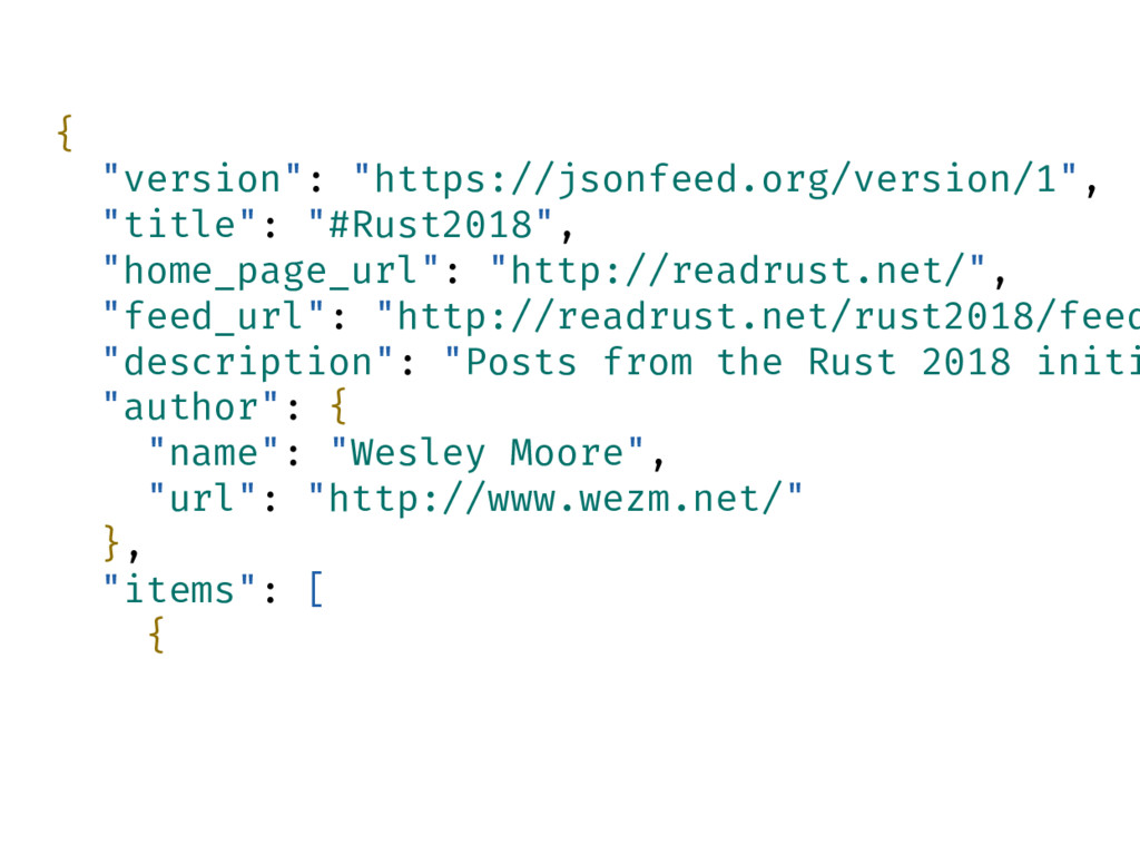"{ ""version"": ""https://jsonfeed.org/version/1"", ..."