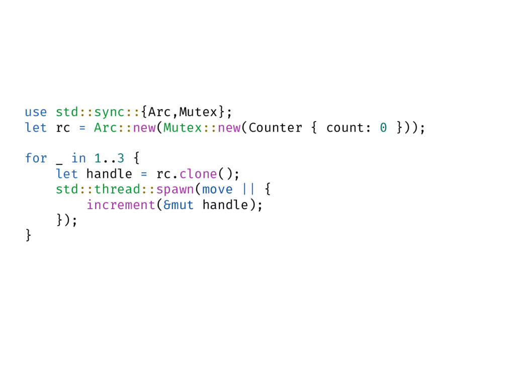 use std::sync::{Arc,Mutex}; let rc = Arc::new(M...