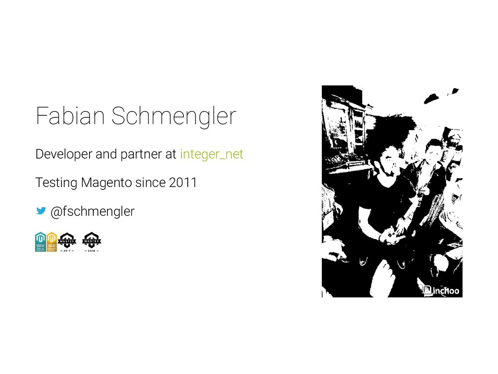 Fabian Schmengler Developer and partner at inte...