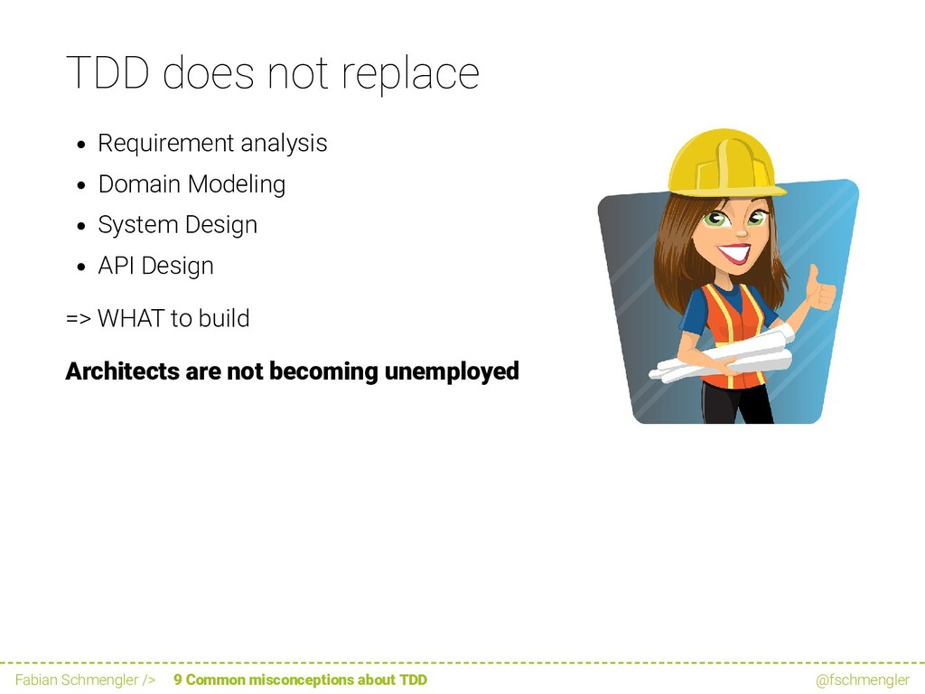 TDD does not replace Requirement analysis Domai...