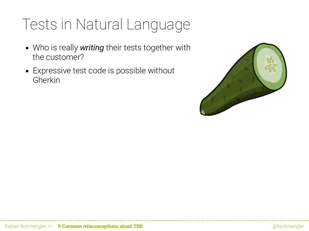 Tests in Natural Language Who is really writing...