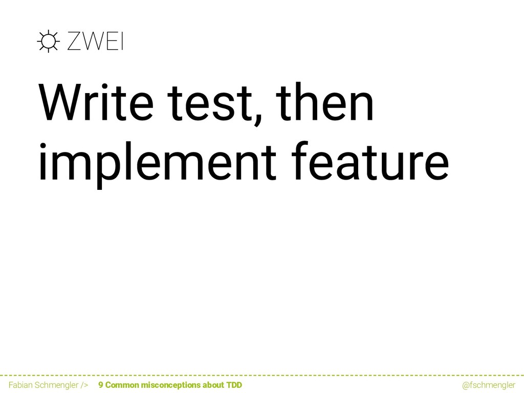 ☼ ZWEI Write test, then implement feature Fabia...