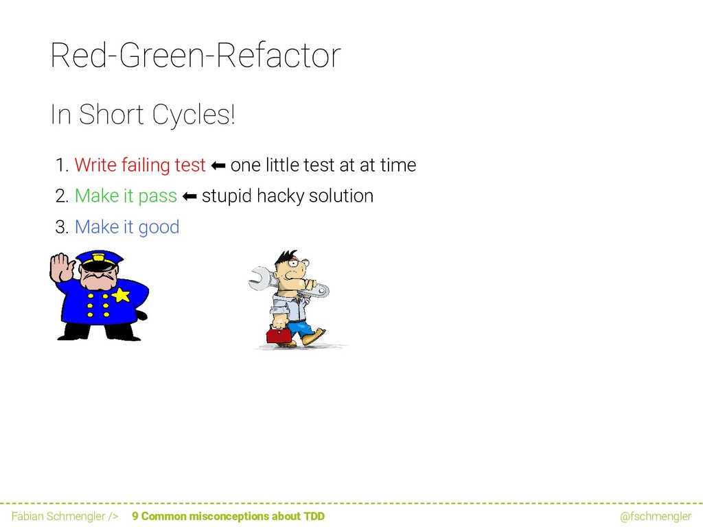 Red-Green-Refactor In Short Cycles! 1. Write fa...
