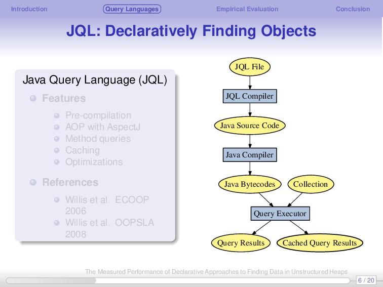 Introduction Query Languages Empirical Evaluati...