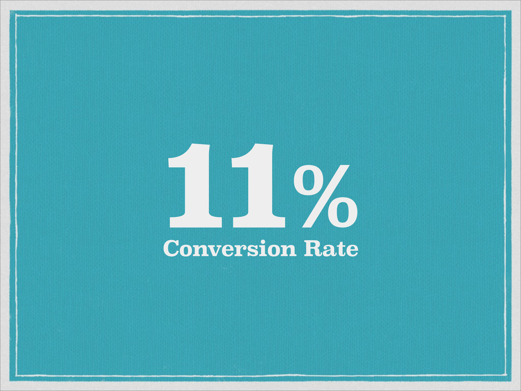Conversion Rate 11%