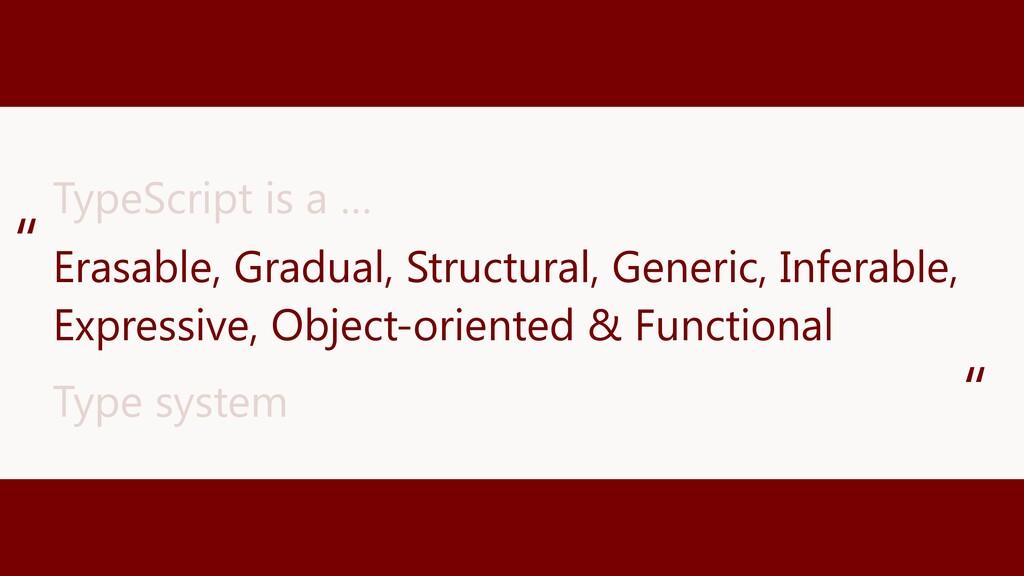 Erasable, Gradual, Structural, Generic, Inferab...