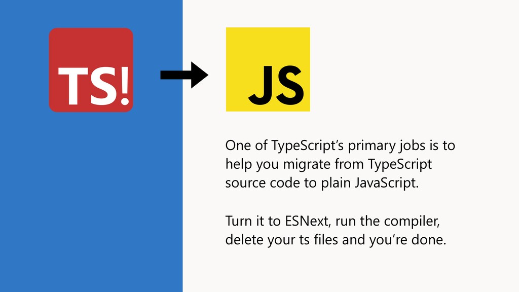 One of TypeScript's primary jobs is to help you...