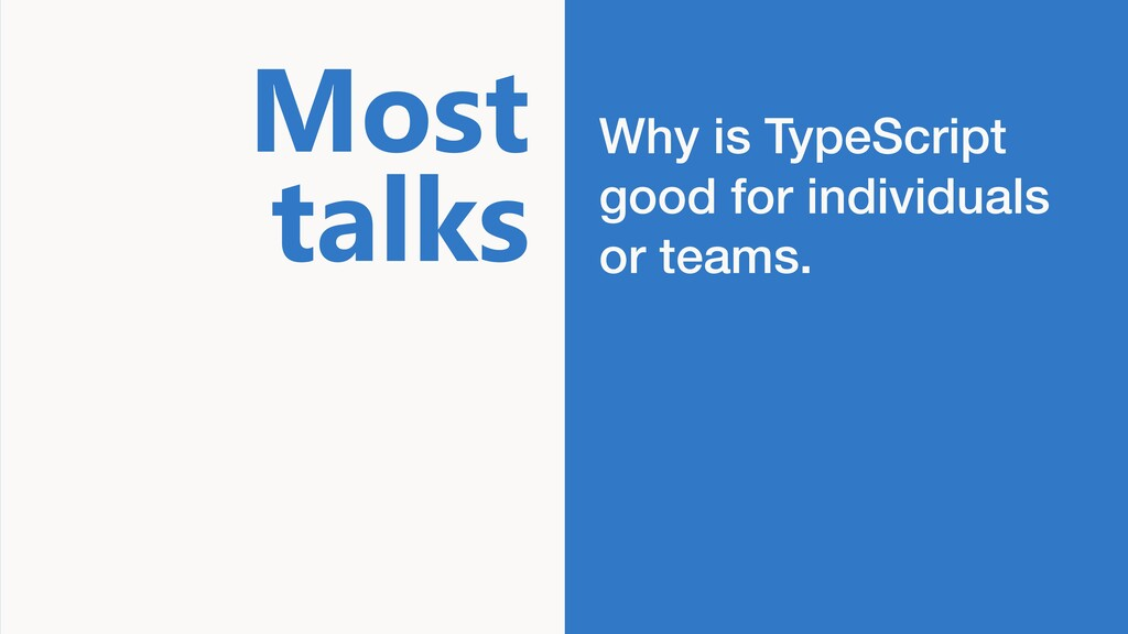 Big Title Why is TypeScript good for individual...