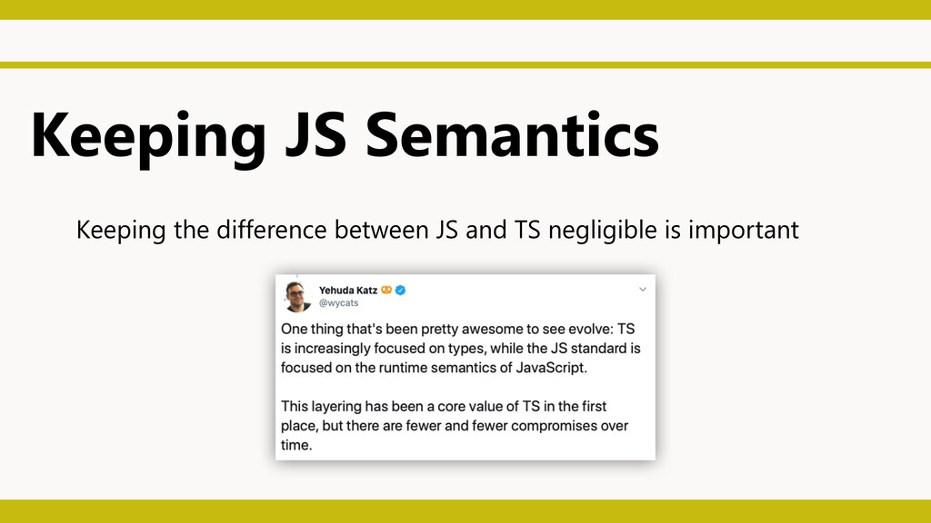 Keeping JS Semantics Keeping the difference bet...