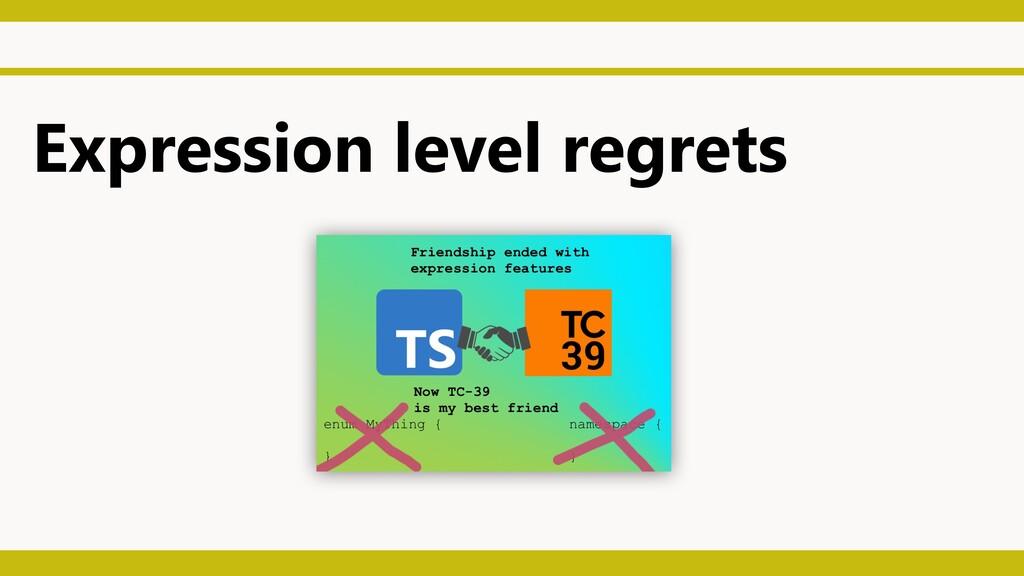 Expression level regrets