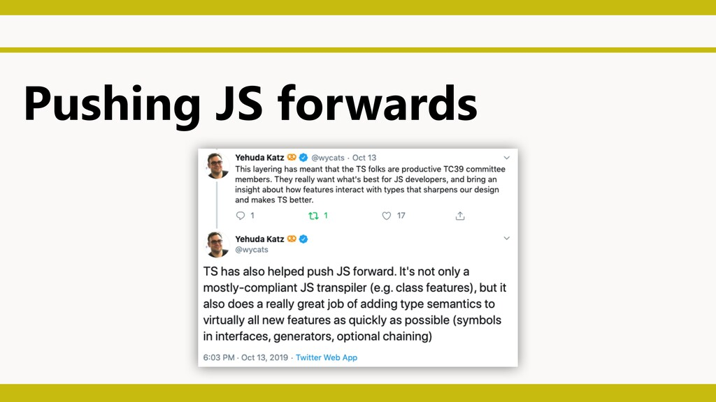 Pushing JS forwards