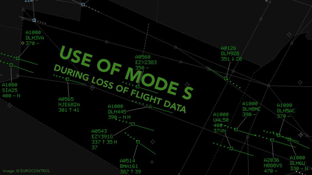 USE OF MODE S DURING LOSS OF FLIGHT DATA Image:...