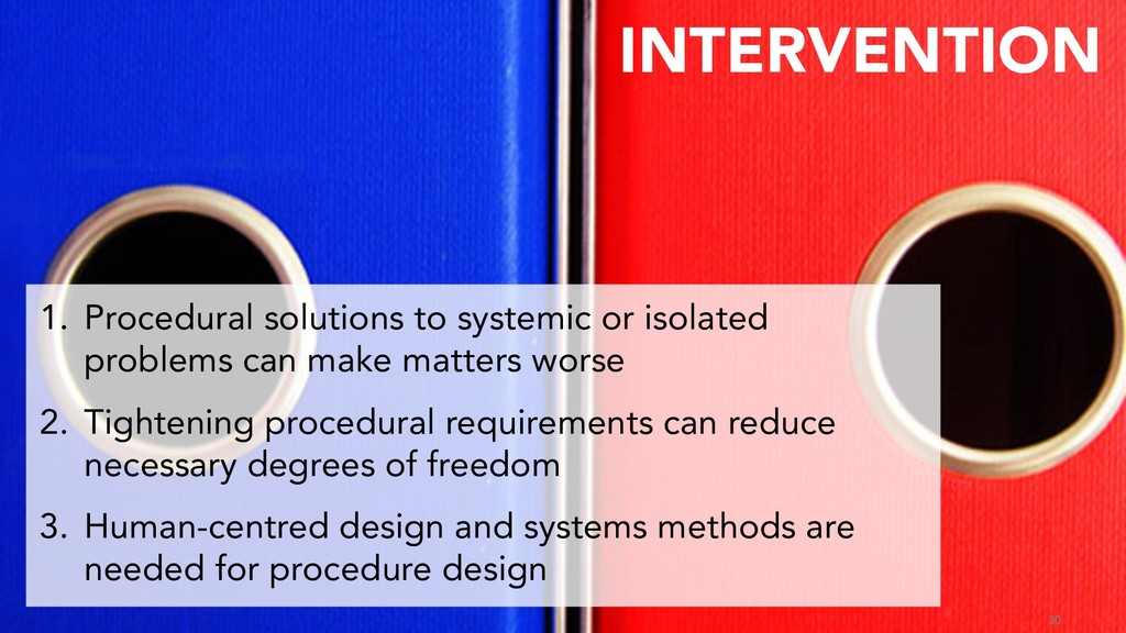 30 1. Procedural solutions to systemic or isola...