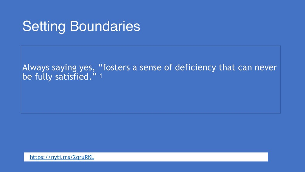"""Setting Boundaries Always saying yes, """"fosters ..."""