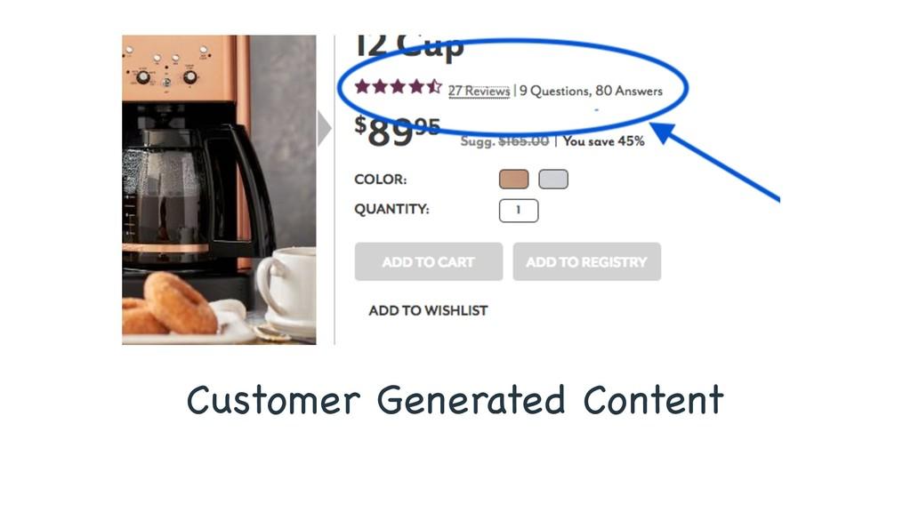Customer Generated Content