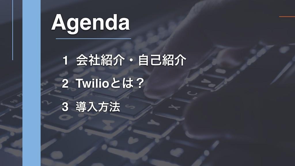 1 ձࣾհɾࣗݾհ 2 Twilioͱʁ Agenda 3 ಋೖํ๏