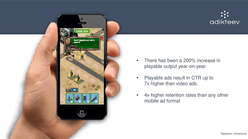 • There has been a 200% increase in playable ou...