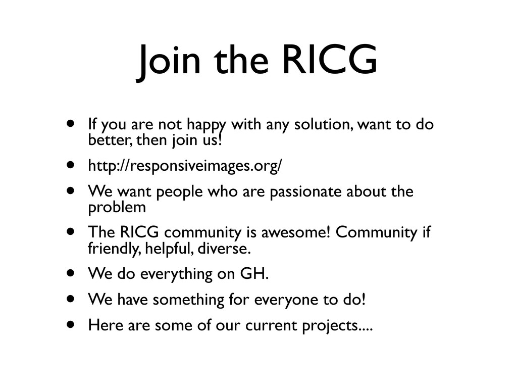 Join the RICG • If you are not happy with any s...