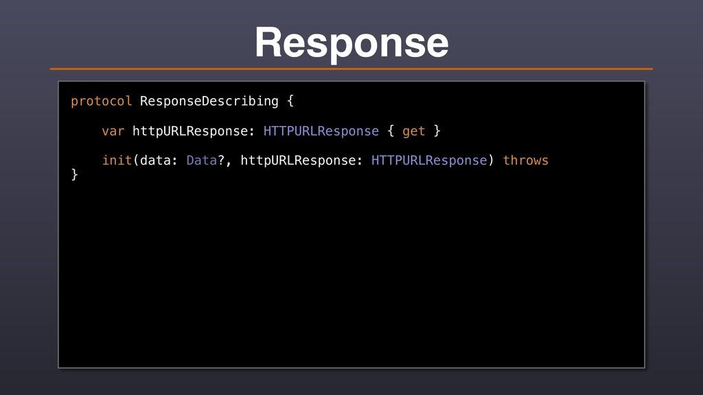 Response protocol ResponseDescribing { var http...