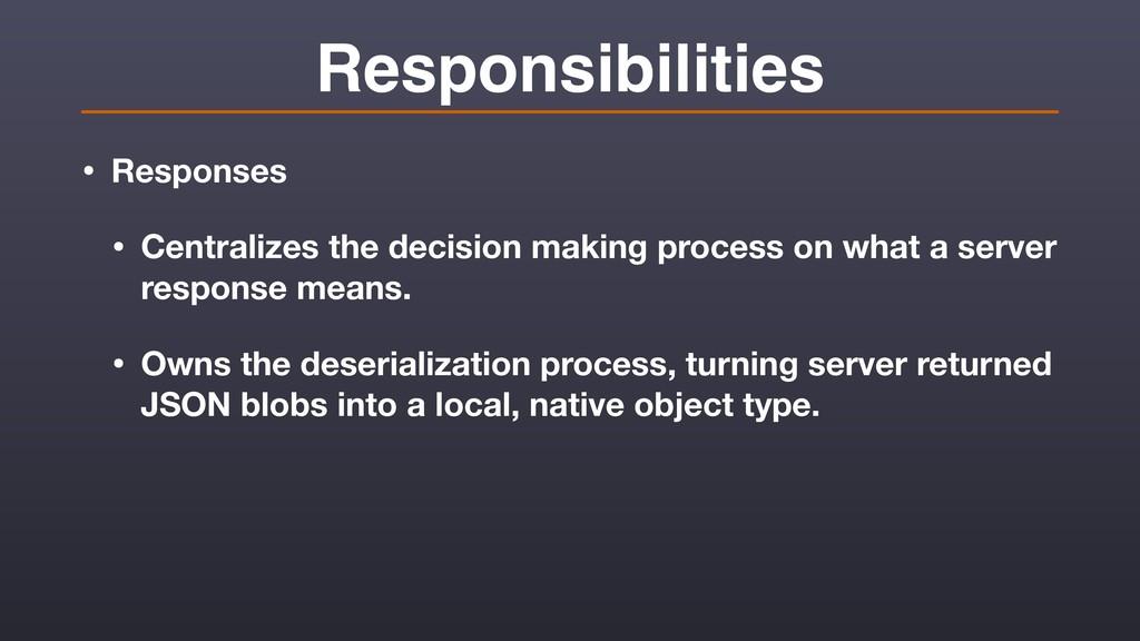 Responsibilities • Responses • Centralizes the ...