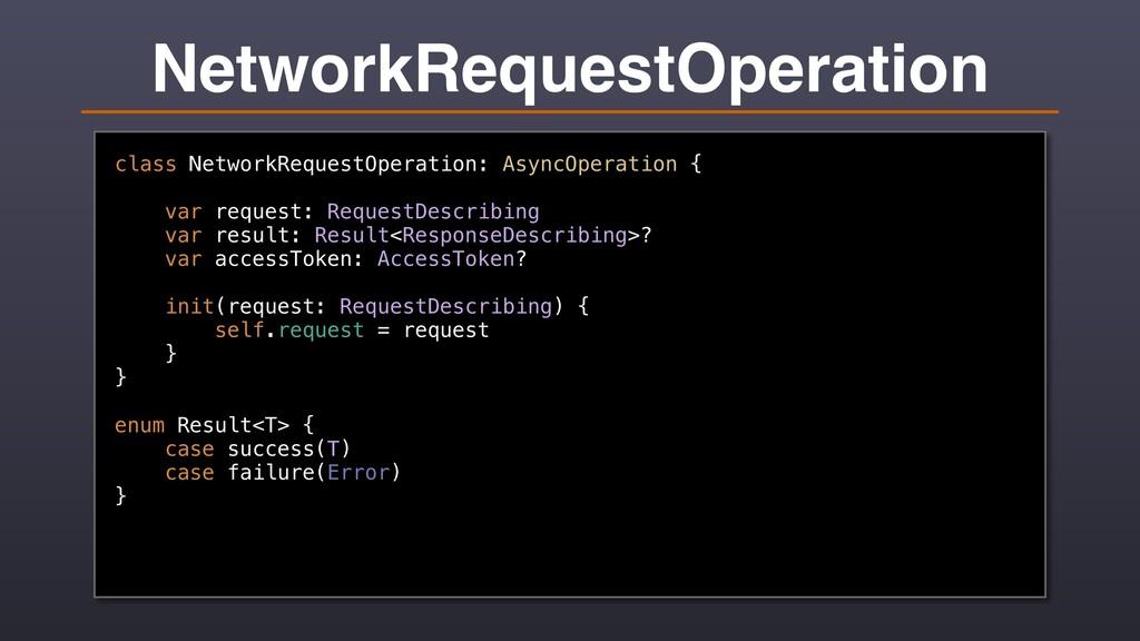 NetworkRequestOperation class NetworkRequestOpe...