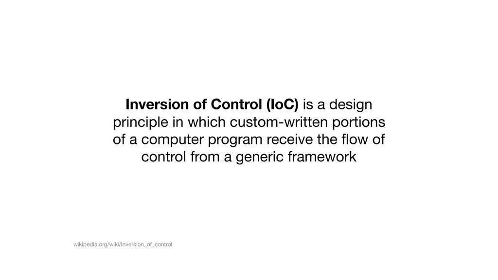 Inversion of Control (IoC) is a design principl...