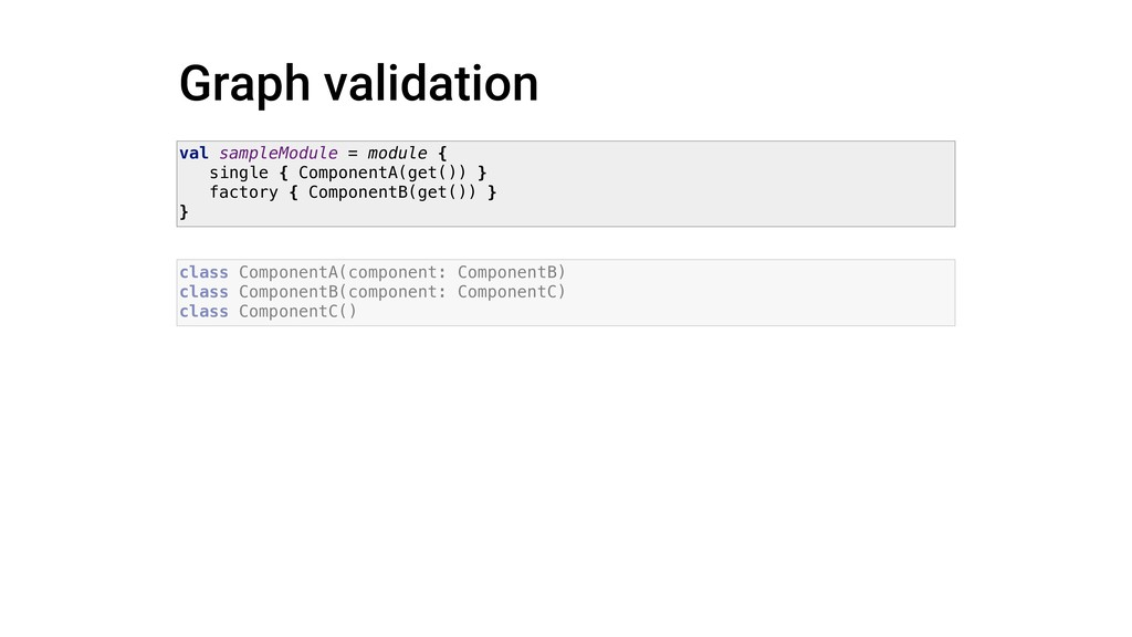 Graph validation class ComponentA(component: Co...