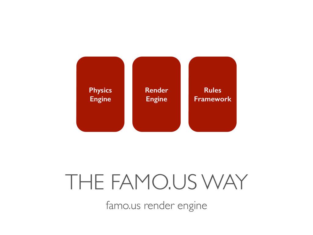 THE FAMO.US WAY famo.us render engine Physics E...