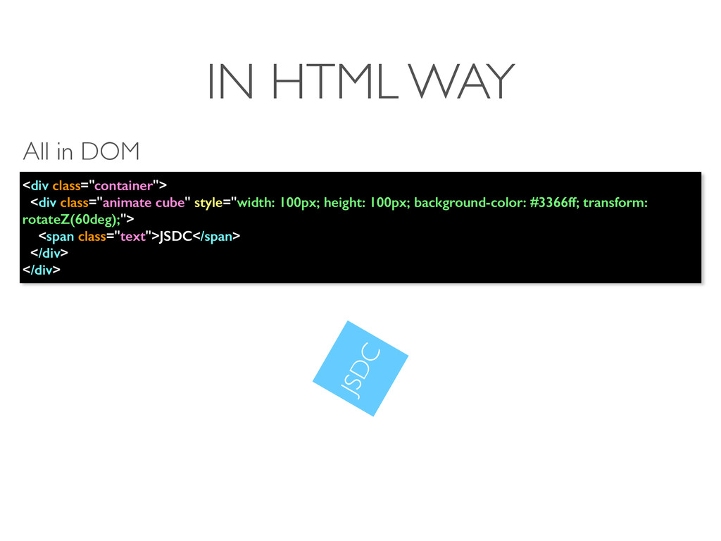 """IN HTML WAY <div class=""""container""""> <div class=..."""