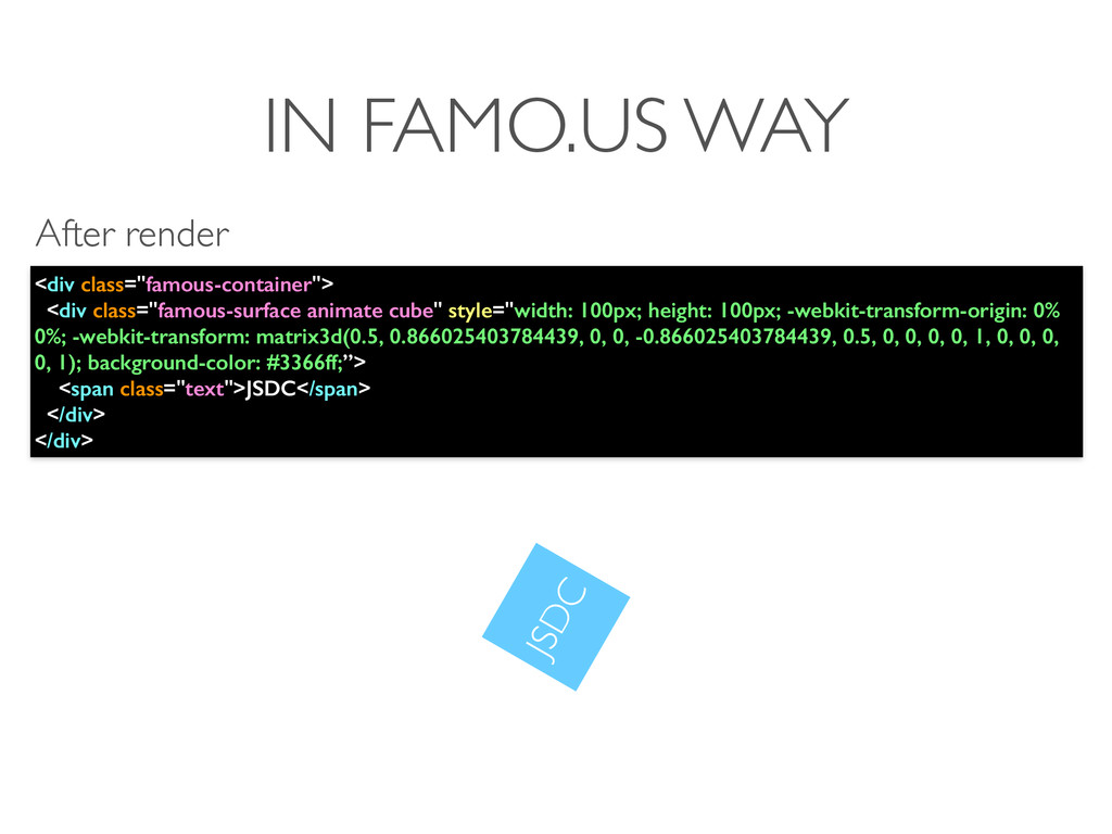 """IN FAMO.US WAY <div class=""""famous-container""""> <..."""