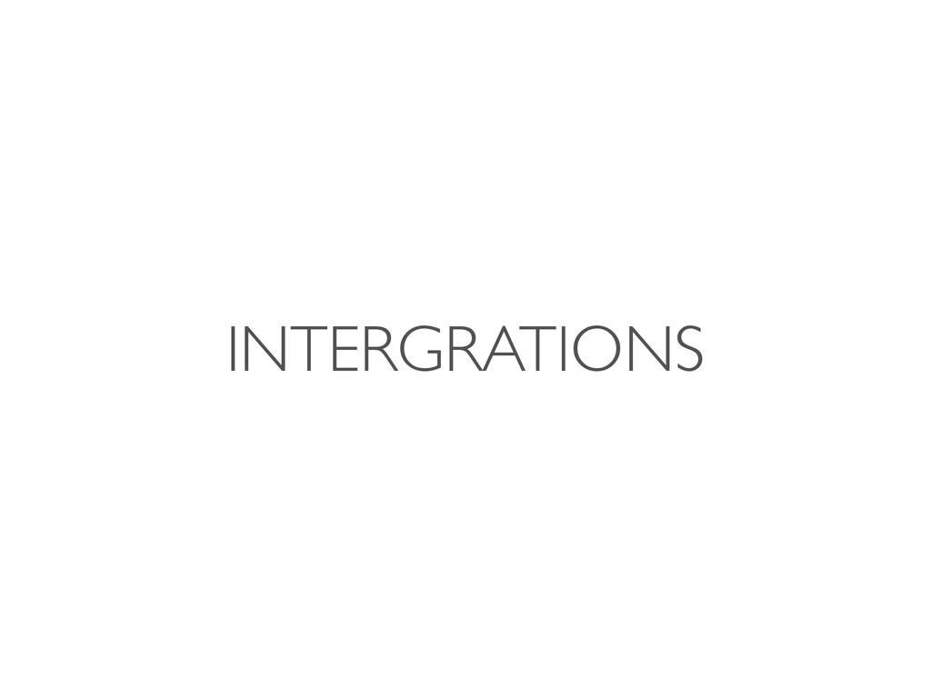 INTERGRATIONS