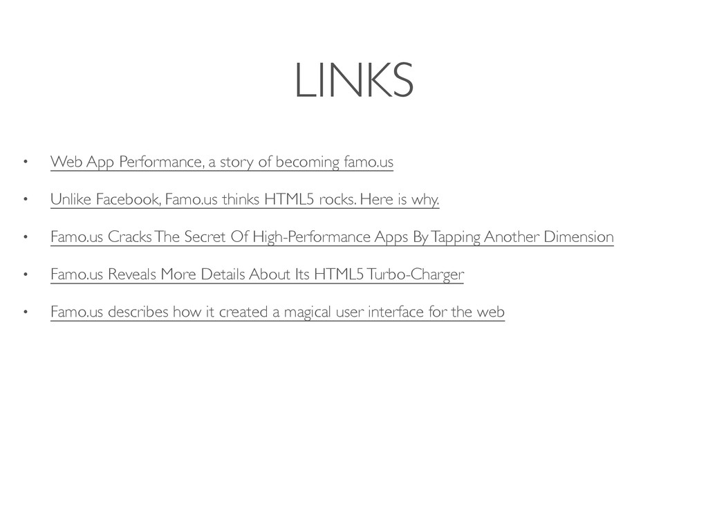 LINKS • Web App Performance, a story of becomin...