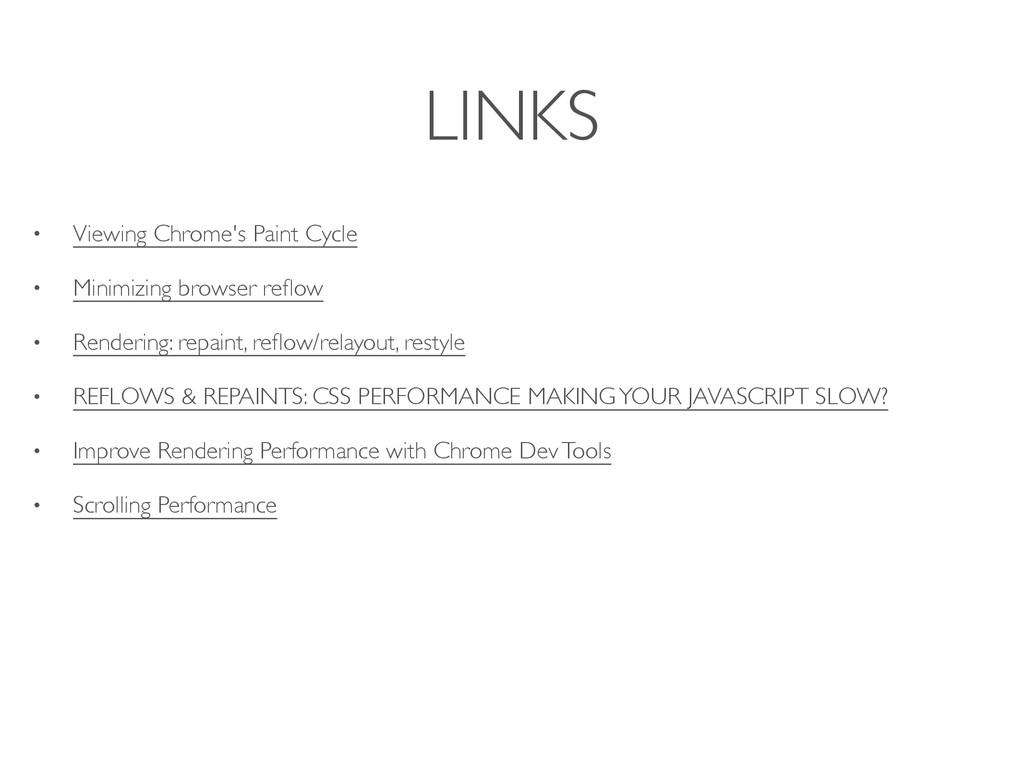 LINKS • Viewing Chrome's Paint Cycle • Minimizi...