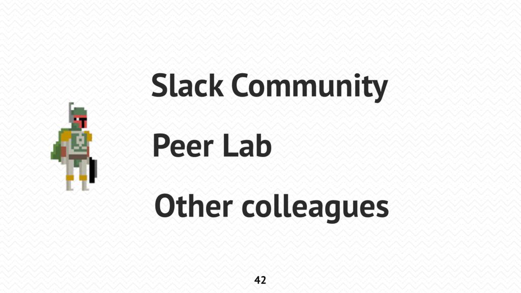 42 Slack Community Peer Lab Other colleagues