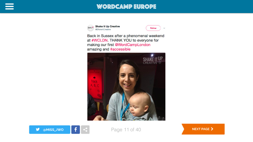 WordCamp Europe Page of 40 11