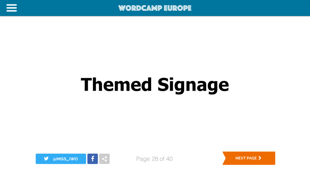 WordCamp Europe Page of 40 Themed Signage 28