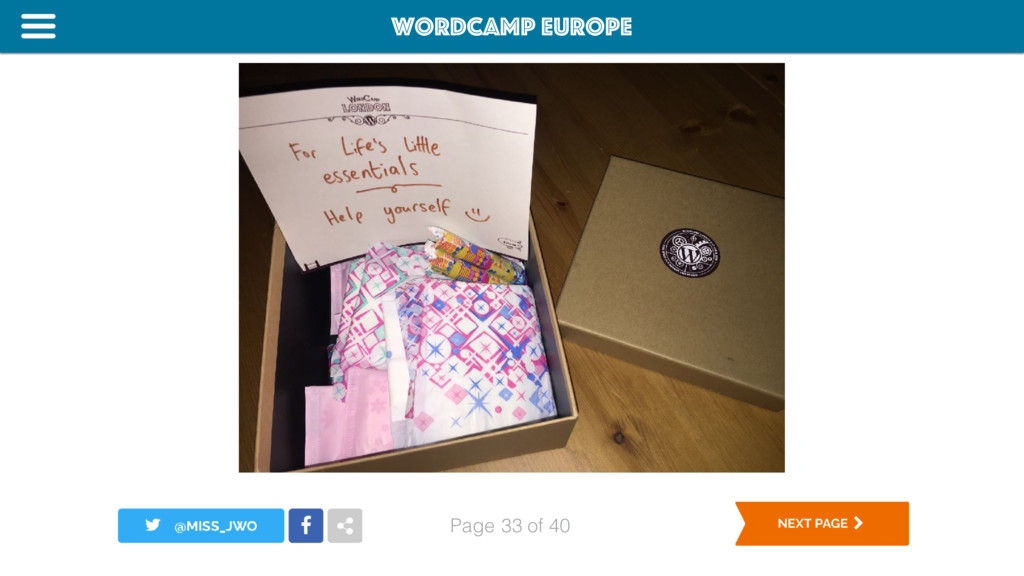 WordCamp Europe Page of 40 33