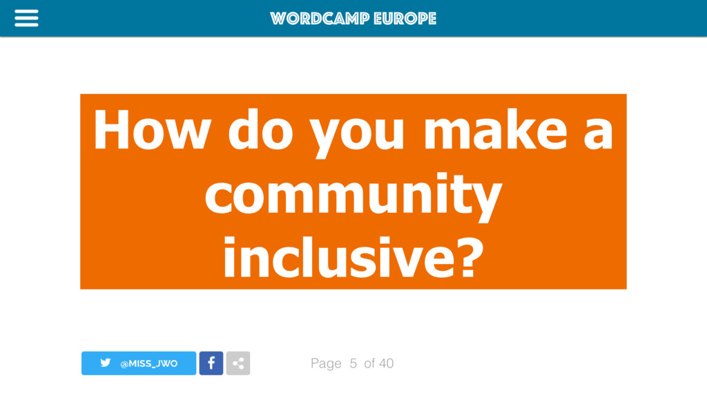 WordCamp Europe Page of 40 How do you make a co...