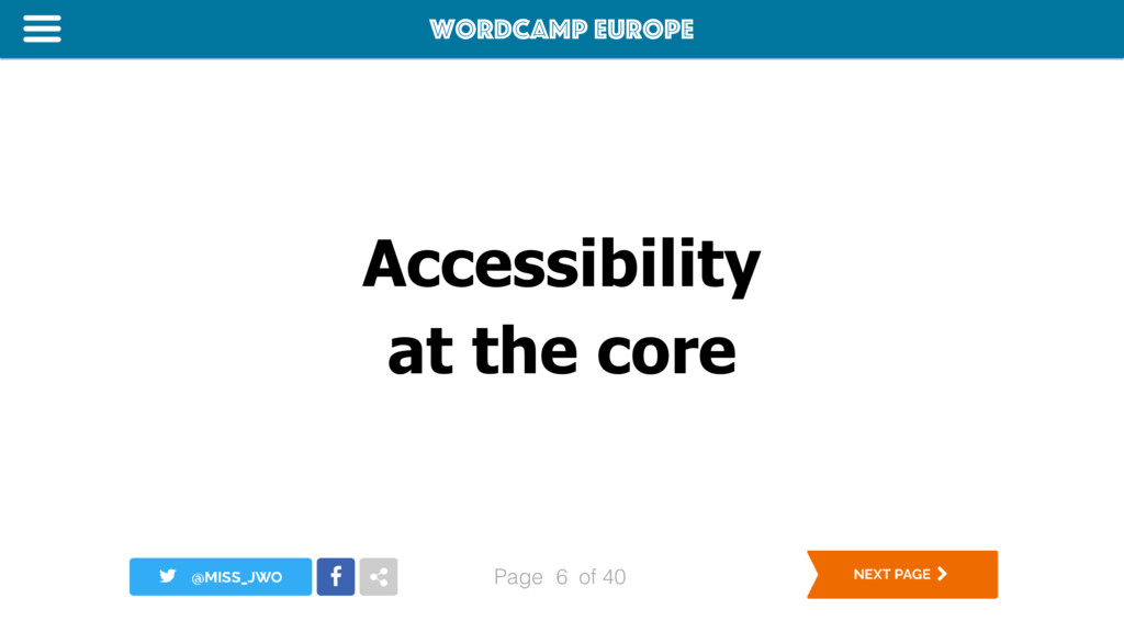 WordCamp Europe Page of 40 Accessibility at the...