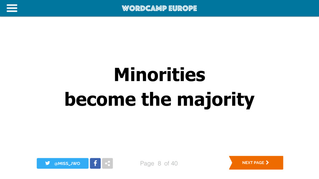 WordCamp Europe Page of 40 Minorities become th...