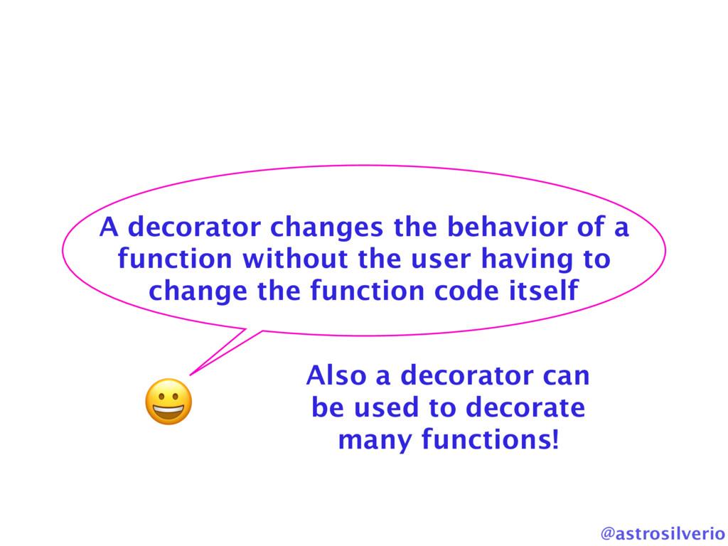 @astrosilverio  A decorator changes the behavio...