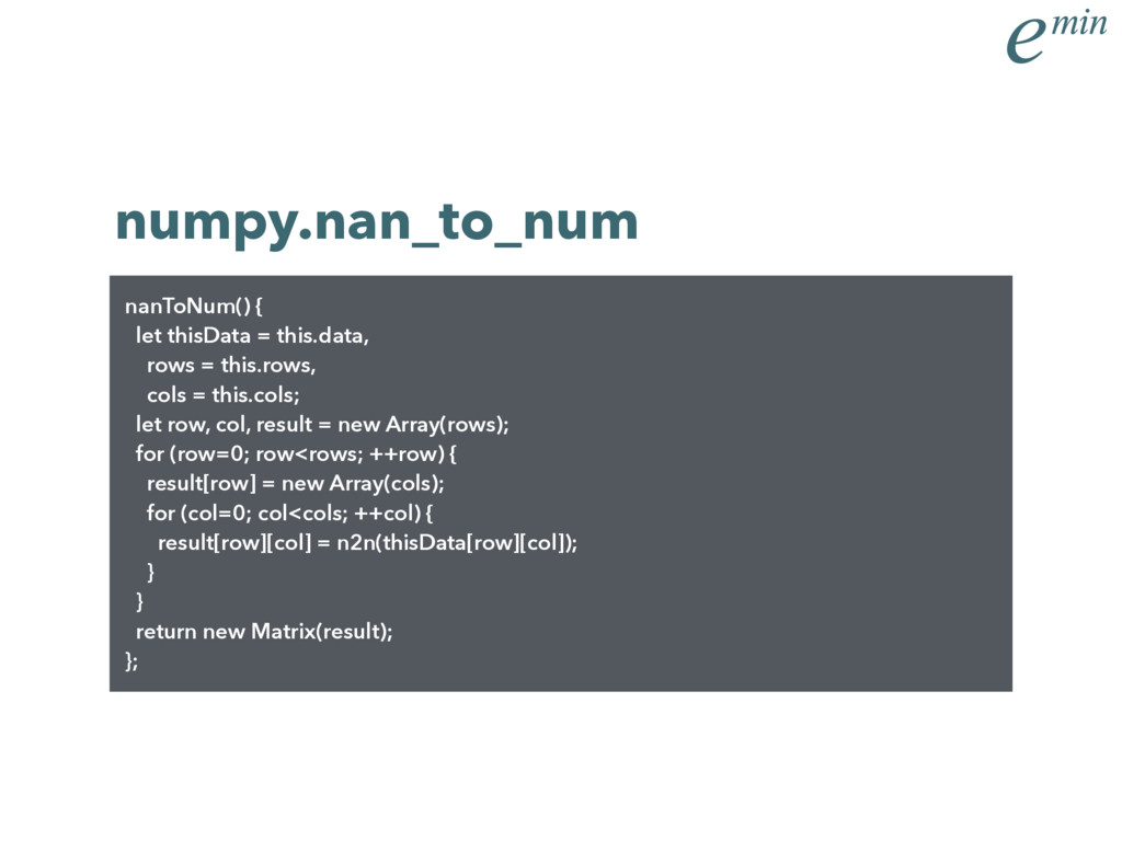 numpy.nan_to_num nanToNum() { let thisData = th...