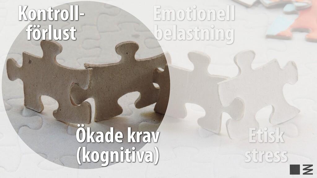 Emotionell belastning Etisk stress Kontroll- fö...